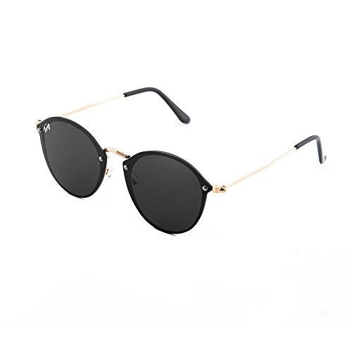 degradadas sol Negro Gafas FRIDA espejo TWIG de Bronce mujer XPxwqxaC