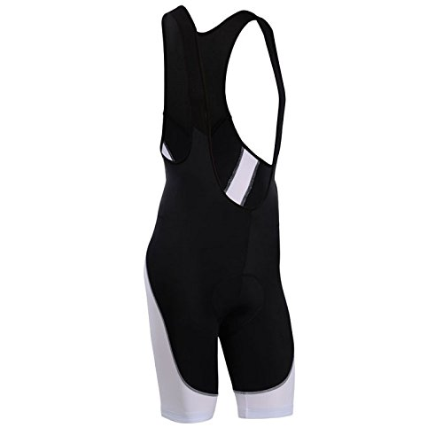 (Men's Breathable 6D Padded Classic Bib Cycling Shorts White)