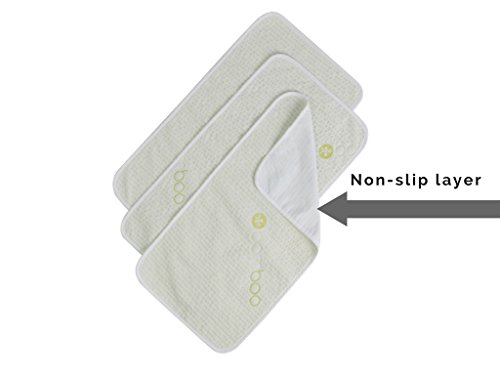 Waterproof Bamboo Baby Changing Table Pads Extra Soft Natural Hypoallergenic 3 Pack- 14 x 27 inches- Portable for in the Diaper Bag or a Perfect Baby Gift! (Tables Changing Portable)