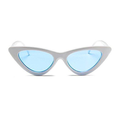 Blue Lunettes Vintage Mod Eye Hzjundasi Cobain Cat Lunettes White soleil Retro Style de soleil Kurt de YqwYIZxPX