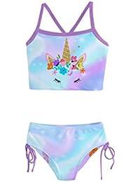 PattyCandy Fun Space Galaxy Unicorn Girls Tankini Swimsuit - 10