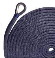 US Ropes ナイロンダブル編みアンカーライン 5/8インチ×200フィート ネイビー