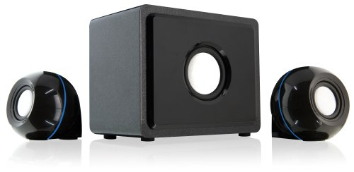 GPX HT12B 2.1 Channel Home Theater Speaker System (Black,3) by iLive