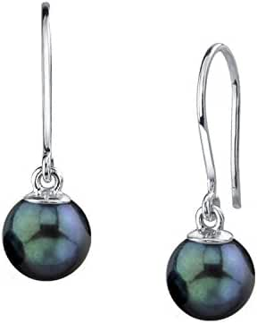 14K Gold Black Akoya Cultured Pearl Linda Earrings