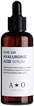 ALBIREO Hyaluronic Acid Serum(100ml) -100% Pure Hyaluronic Acid Facial Serum, Anti Aging, Anti Wrinkle Serum for Face-Hydration Hydrating Moisture Serum for Dry Skin & Fine Lines Korean Skin Care