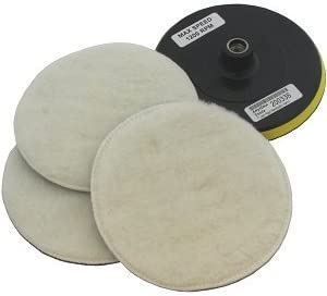 "7"" Polisher/Buffer Soft Wool Bonnet & Pad"