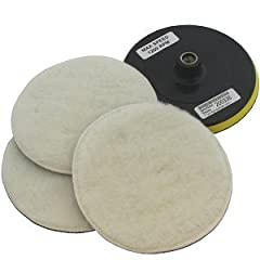 "REPLACEMENT KIT for YOUR TORN / WORN / BROKEN pads. Fits 5/8"" 11 TPI Spindle. Includes 3 piece synthetic Wool Polishing Bonnets with female Velcro attachement and 1 Backing Pad with Standard 5/8"" 11 TPI Thread and male type velcro."