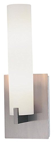 Contemporary Bathroom Sconces - George Kovacs P5040-084, Tube, 2 Light Bath Fixture, Brushed Nickel