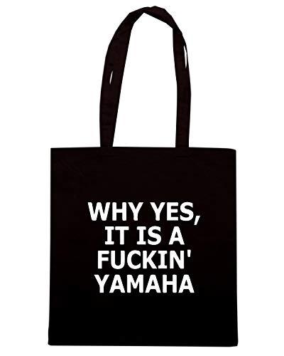 YES Shopper Shirt TB0132 Borsa Speed WHY Nera Pzacq