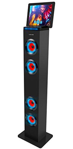 Sharper Image Sbt1001bk Bluetooth Tower Speaker With Lights