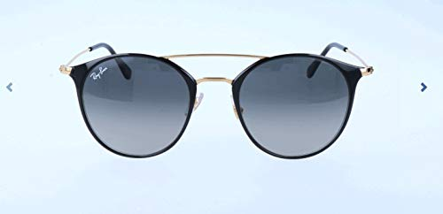 Ray-Ban RB3546 Round Metal Sunglasses, GOLD TOP BLACK, 52 mm (Ray Ban Round Metal Sonnenbrille)