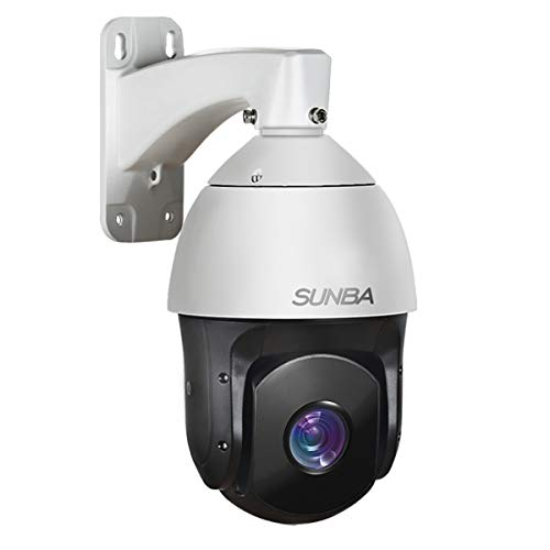 SUNBA 601-D20X IP PoE+ High Speed PTZ Outdoor Security Camera, 20x Optical Zoom HD 1080P ONVIF with Audio and Night Vision up to 800ft - High Speed Ptz Camera