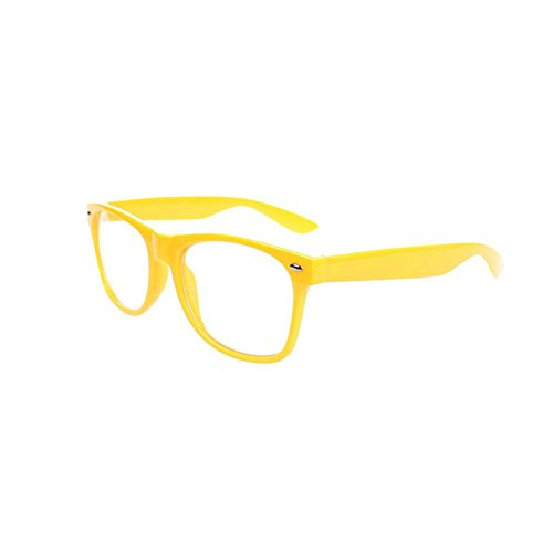 FancyG Classic Retro Fashion Style Clear Lenses Glasses Frame Eyewear - - Amazon Yellow Lens Glasses