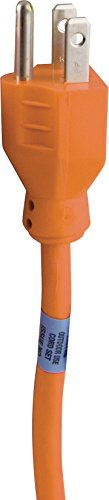 Indoor/Outdoor 25-Foot General Purpose Grounded Extension Cord, Orange 51924 (General Purpose Cord Extension)