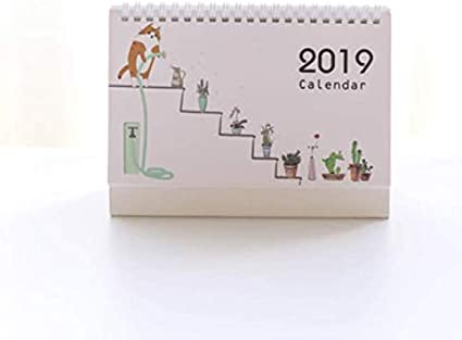 2019 Calendario de dibujos animados con bonito diseño de animales ...