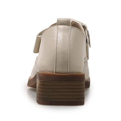 Beige Heel Pumps Fashion Taoffen On Shoes Slip Low Women wt8nPnqS