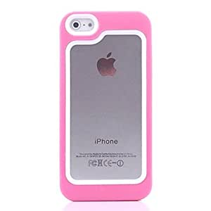 QYF Fashionable Plastic + TPU Bumper Frame Case for iPhone 5/5S(Assorted Color) , Blue