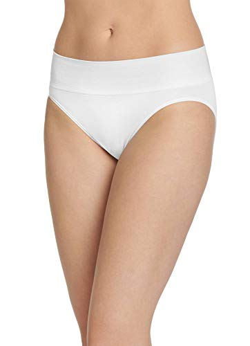 (Jockey Women's Underwear Natural Beauty Seamfree Hi Cut, White, 5)
