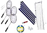 : Deluxe Badminton/Volleyball Set