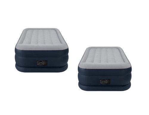 Air Deluxe Mattress (2-Pack Intex Deluxe Twin Pillow Rest Raised Air Mattresses + Pumps | 2 x 67731E)