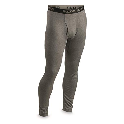 Guide Gear Polartec Power Wool Base Layer Bottom, Graphite Gray, XL