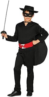 Guirca - Disfraz de Zorro, talla 5-6 años, color negro (78701 ...