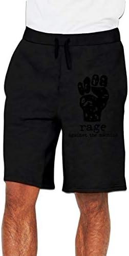 レイジ・アゲインスト・ザ・マシーン メンズ ショートパンツ トレーニング 短パンツ ハーフパンツ ファッション スポーツ 吸汗速乾
