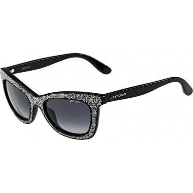 Jimmy Choo Sunglasses - Flash/S / Frame: Shiny Black / Silver Lens: Gray - Jimmy Silver Choo