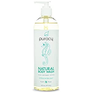 Puracy Natural Body Wash, Citrus and Sea Salt, 16 Fluid Ounce