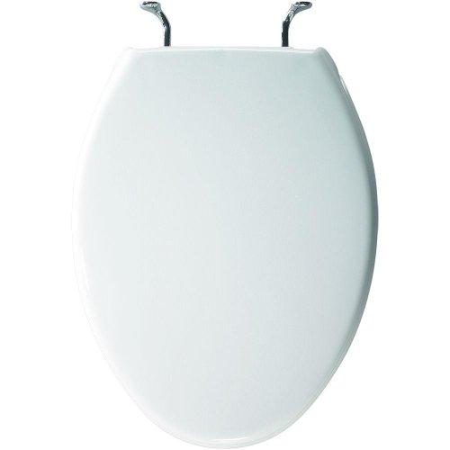 Bemis 1900CCP 000 Commercial Plastic Elongated Toilet Seat, White ()