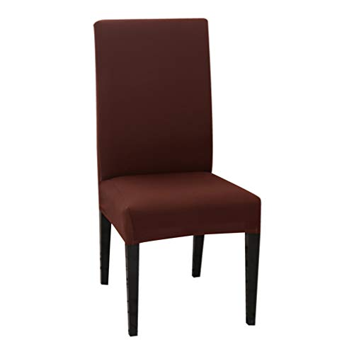 WEEFORT 1PC Solid Color Chair Cover Spandex Stretch Elastic Slipcovers Dining Room Banquet Hotel Kitchen Wedding Seat Case