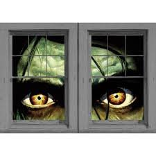 WOWindow Posters Sinister Sid Scary Eyes Halloween Window Decoration Two 34.5