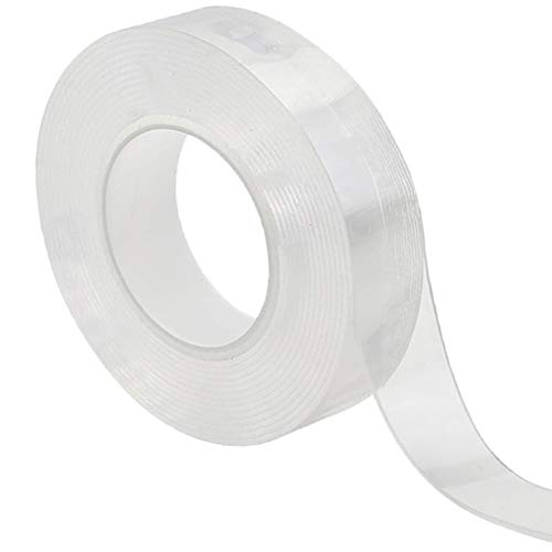 Viewm Double Sided Carpet Tape for Area Rugs Removable 1.18 in × 3.28 yd / 3cm × 3m (Clear) (Clear Rugs Plastic Area)