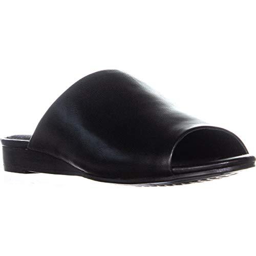 Sandals Aerosoles Suede (Aerosoles Women's BITMAP Slide Sandal, Black Leather 6.5 M US)