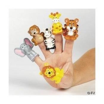 Cool Fun 466020 Jungle Animal Finger Puppets Jungle Finger Puppets