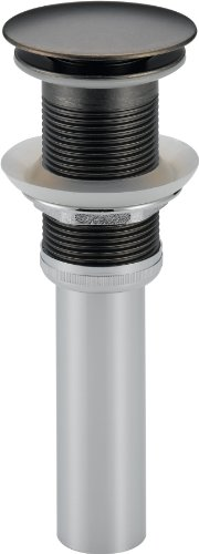 Aged Pewter Bathroom - Delta 72172-PT Push Pop-Up - Less Overflow, Aged Pewter