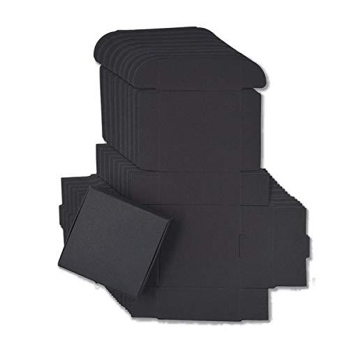 sensitives 10pcs/lot 12sizes Small Kraft Paper Box,Brown Cardboard Handmade soap Box,White Craft Paper Gift Box,Black Packaging Jewelry Box,Black,6.5x6x2cm]()