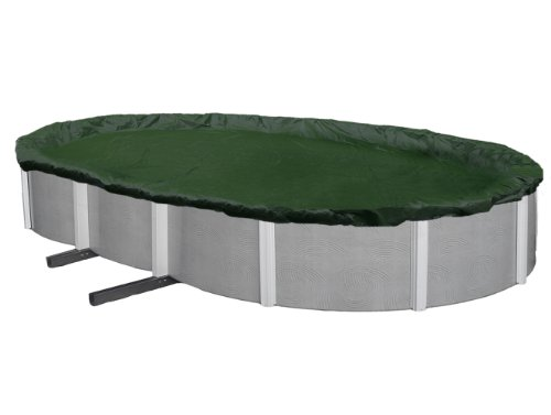 Oval Cover Winter - Blue Wave Silver 12-Year 12-ft x 20-ft Oval Above Ground Pool Winter Cover