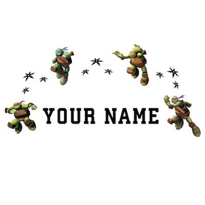 Personalized Teenage Mutant Ninja Turtles Kids Name Wall Decal]()