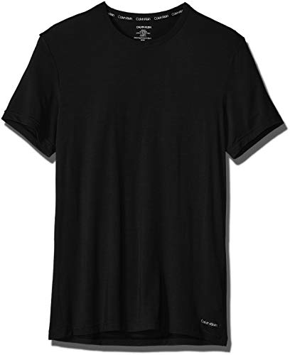 Calvin Klein Short Sleeve Shorts - Calvin Klein Men's Ultra Soft Modal Short Sleeve Crew Neck T-Shirt, Black, M