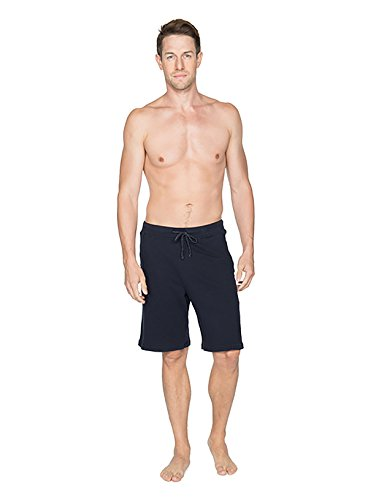 BAREFOOT DREAMS MALIBU COLLECTION MEN'S HALF PANT (SMALL, MARINE) by Barefoot Dreams