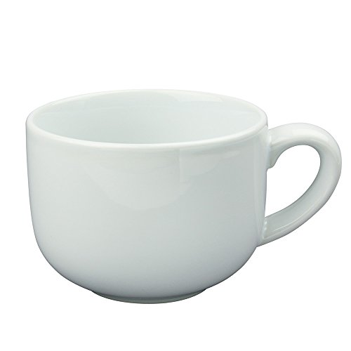 24 ounce Extra Large Latte Coffee Mug Cup or Soup Bowl with Handle - White