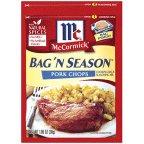 McCormick Bag 'N Season Pork Chops Cooking Bag & Seasoning Mix 1.06 oz (Pack of 6)