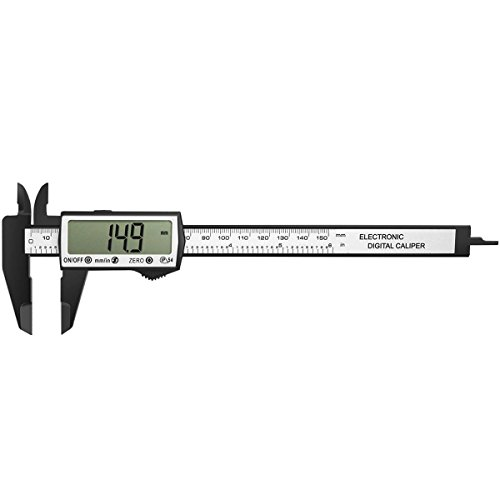 GOSCIEN 150mm/6-inch Electronic Digital Vernier Caliper Micrometer Gauge Measurement with LCD Display Screen