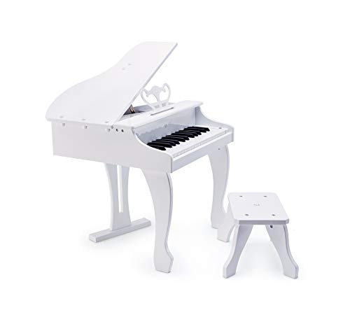 Hape Deluxe White Grand Piano | Thirty Key Piano Toy with Stool, Electronic Keyboard Musical Toy Set for Kids 3 Years+ by Hape (Image #6)
