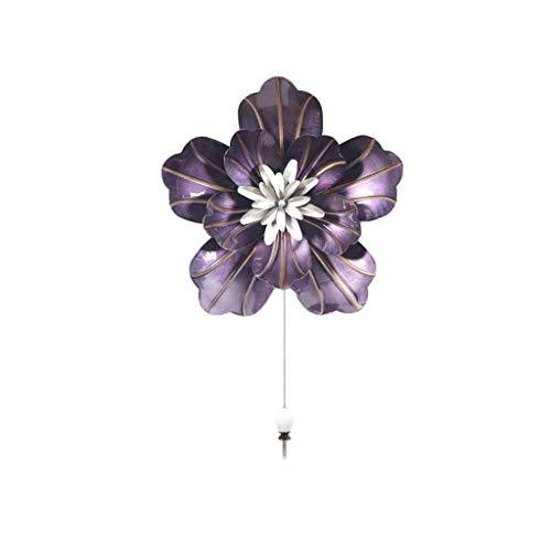 Amazon.com: Perchero de pared con diseño de flores, para ...