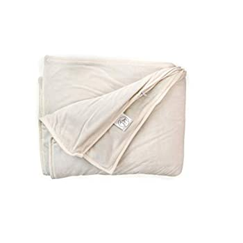 Image of J&M Premium Minky Weighted Blankets: 60'x80' - Weighted Blanket | Full and Queen Size Beds | for Adults and Teenagers | Be Prepared for Stress Reducing Sleep (20 LBS - Minky Cream) j%26m B07WCT3XRR Weighted Blankets