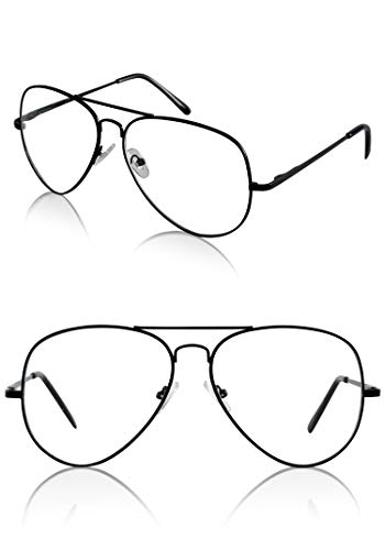 Clothing Clothes Funky Costume Props Nerd Gift Two 2 Pack Aviator Glasses Black