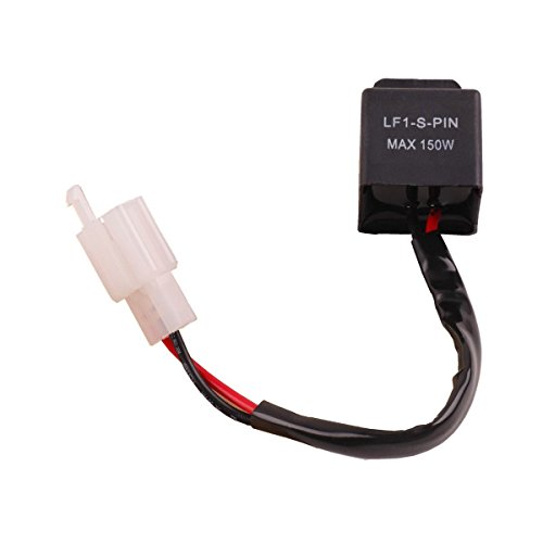 Wiring Relay Flasher (2-Pin Electronic LED Flasher Relay FIX Motorcycle Turn Signal Bulbs Hyper Flash)