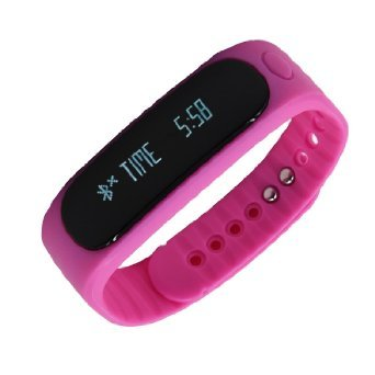 Hideer E02 Smart Bracelet Sport bluetooth bracelet smart watch With Bluetooth Self Photo Function Activity Tracker healthy Silicone Wristband Time/Caller ID/alarm/Pedometer Sleep Monitor for IOS Android Standard USB Plug charger On Computer USB port IP67